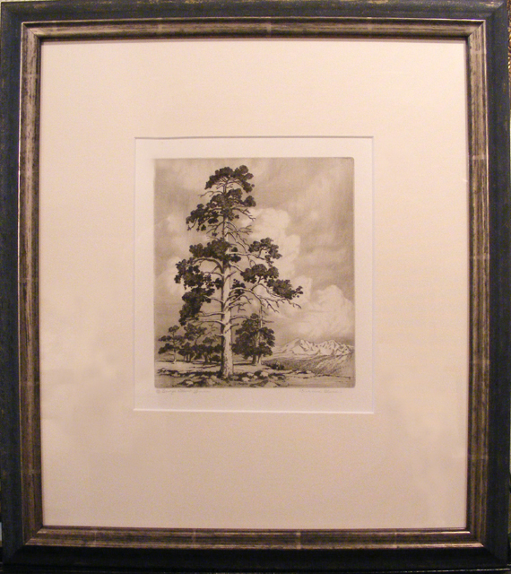 Pine and Clouds - George Elbert Burr - etching