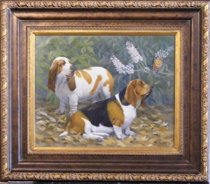 Beagles and Butterfly | Robert Christie